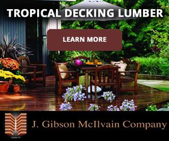 Tropical decking lumber