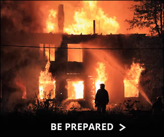Be prepared in case of house fire