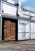 Kiln full of lumber