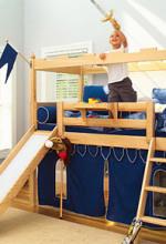 maxtrix boys castle slide loft bed