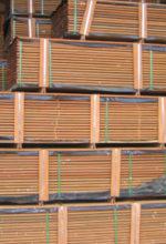 stacks of ipe decking