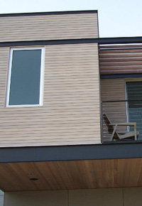 Western Red Cedar siding & eaves