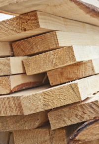 Lumber ready for purchase