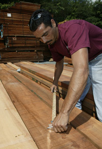 Picking lumber at J. Gibson McIlvain