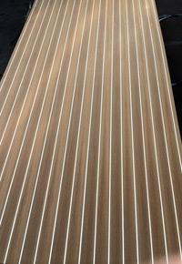 Center matched vertical grain Teak Holly on Sapele Bruynzeel core