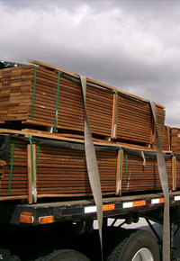 Ipe on a truck, ready for delivery