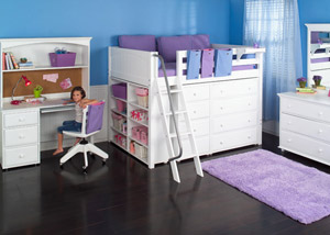 Maxtrix storage bed for girls