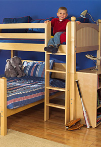 boy on top bunk maxtrix bed