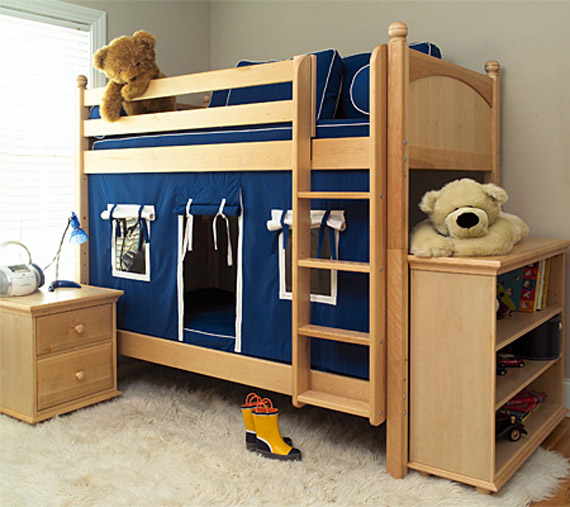 boys maxtrix bunkbed with play house bottom bunk
