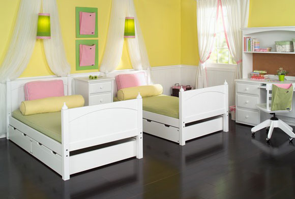 maxtrix girls two basic beds