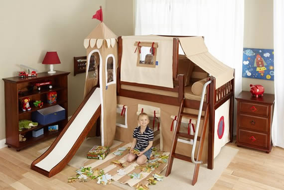 fort bed for boys wooden loft bed by maxtrix