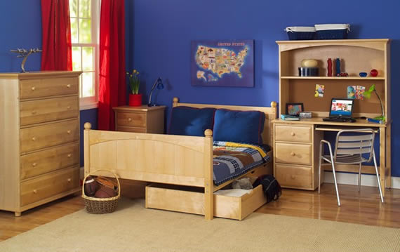 full bed with underbed storage drawers by maxtrix