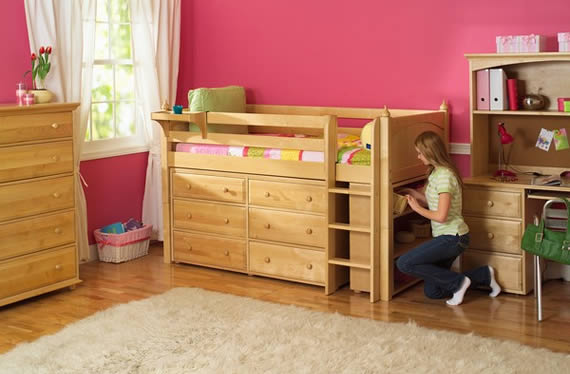 storage loft bed by maxtrix with drawers bookshelves