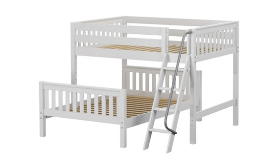 perpendicular maxtrix bunk bed white wood