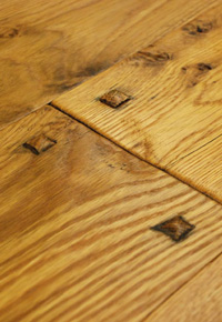 Hand scraped White Oak wide plank flooring