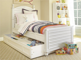 black white collection twin reading bed