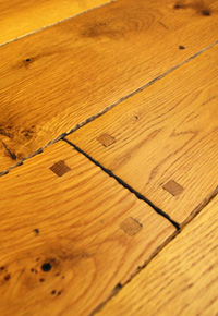 Rehmeyer Old Trail: White Oak Flooring with Hand Beveled Edges