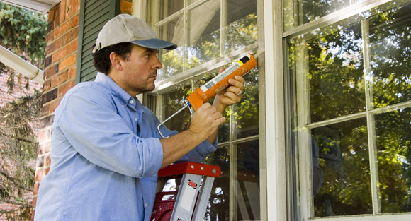 caulking windows for drafts