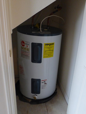 hot water heater to drain
