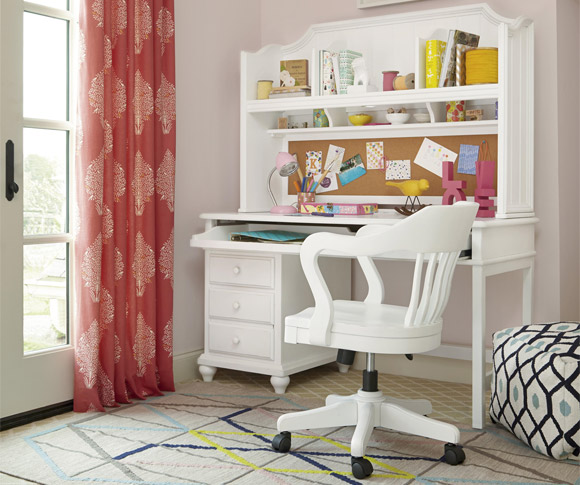 black and white collection white desk and hutch