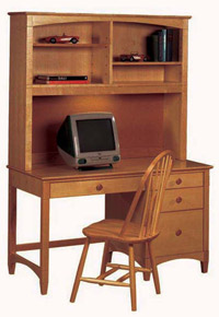 contemporary desk with hutch brown