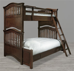 Classics 4.0 Cherry Bunk Bed (Full over Twin)