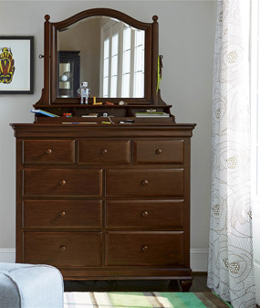 Classics 4.0 Cherry Dressing Chest (shown with optional Tilt Mirror)