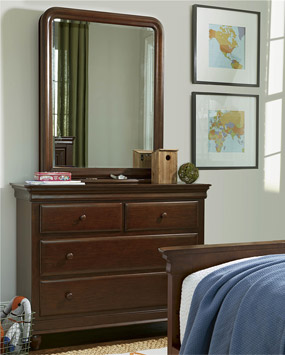 Classics 4.0 Cherry Single Dresser (shown with optional Storage Mirror)