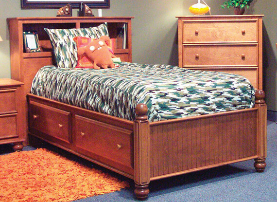 Rockport Captain Bed with Bookcase Headboard