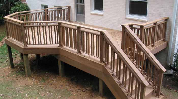 completed ipe back deck and stairs