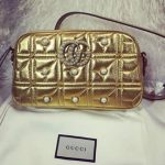 gucci gold pearl studded matelasse marmont bag