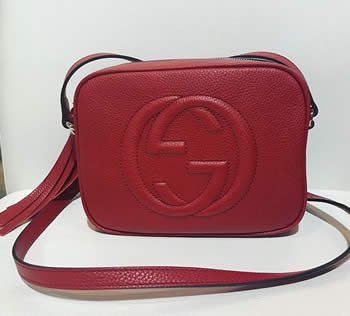 gucci soho crossbody in red