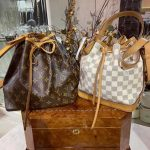 louis vuitton monogram and white damier noe bag