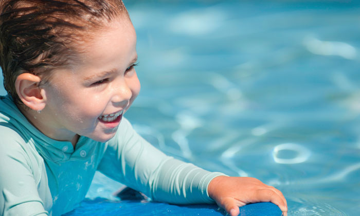 happiness is swimming in the pool