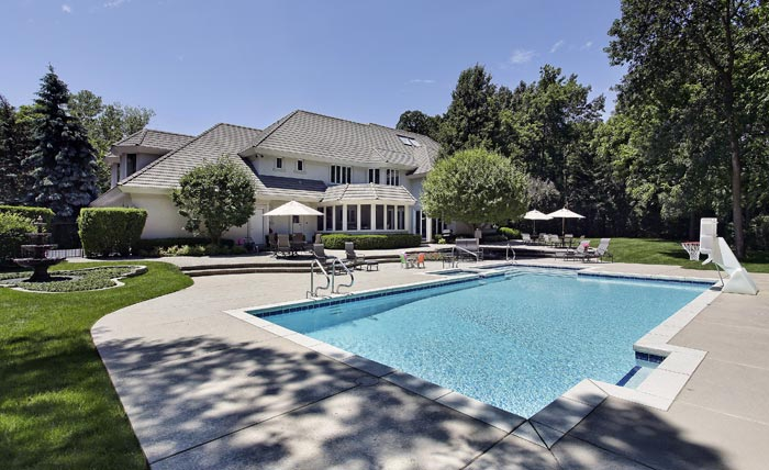 Estate house with large backyard pool